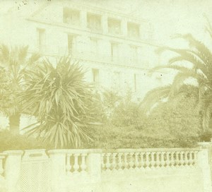 France French Riviera around Nice Mansion Amateur Stereoview Photo Pourtoy 1900