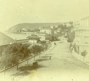 France French Riviera around Nice Seaside Amateur Stereoview Photo Pourtoy 1900