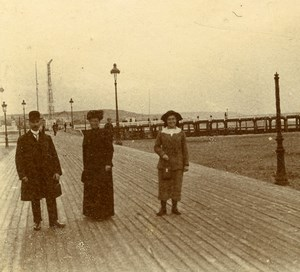 France French Riviera Boardwalk Seaside Amateur Stereoview Photo Pourtoy 1900