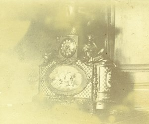 France French Riviera Clock House Interior Amateur Stereoview Photo Pourtoy 1900