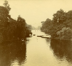 United Kingdom ? Quiet River Promenade Old Amateur Stereoview Photo Pourtoy 1900