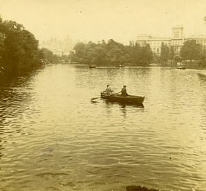 London ? Castle Lake Old Amateur Stereoview Photo Pourtoy 1900