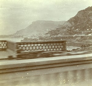 France French Riviera around Nice Old Amateur Stereoview Photo Pourtoy 1900