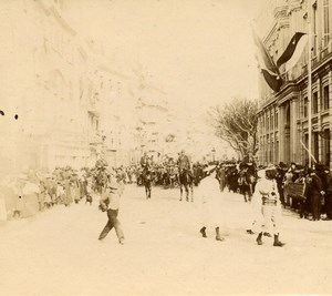 France Cannes Military Parade Old Amateur Stereoview Photo Pourtoy 1900