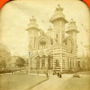 France Paris Expo Universelle palais de la Bolivie anciennne Photo Stereo Transparente LL 1889
