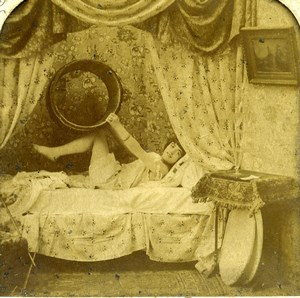 France Paris Erotic Fantasy Risque Repetition BK Photo Stereoview Tissue 1900