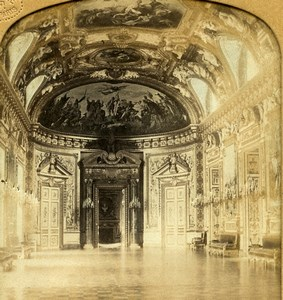 France Paris Senate Throne Reception Room Old GAF Photo Stereoview Tissue 1860