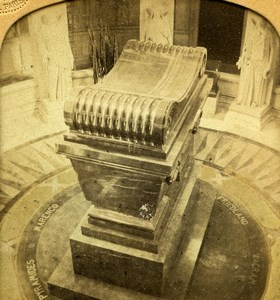 Paris Invalides Tomb of Emperor Napoleon I Old GAF Photo Stereoview Tissue 1860