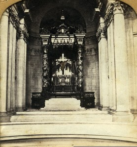 Paris Hotel des Invalides Napoleon I Chapel Old GAF Photo Stereoview Tissue 1860