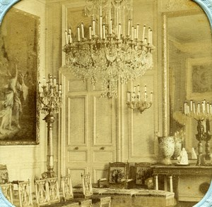 France Tuileries Palace or Saint Cloud? Salon Old Stereoview Tissue 1860