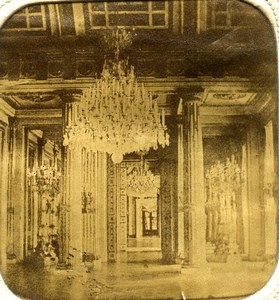 France Versailles Castle Reception Room Old Photo Tissue Stereoview 1860
