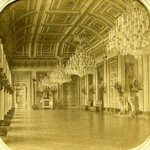 France Paris Tuileries Palace Salon de la Paix Old Stereoview Tissue 1860