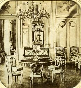 France Chateau de Saint Cloud Salon anciennne Photo Stereo Transparente 1860