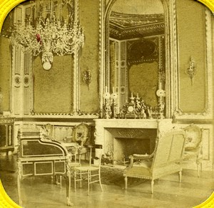 France Paris Elysee Palace Study Old Photo Tissue Stereoview 1860