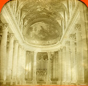France Versailles Castle Chapel Old Photo Tissue Stereoview BK 1860