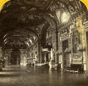 France Paris Palais du Luxembourg salle du Trone anciennne Photo Stereo Transparente BK 1860