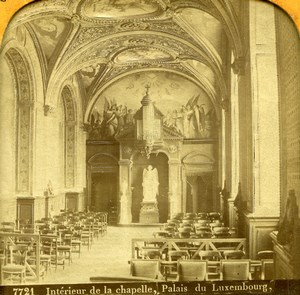 France Paris Luxembourg Palace Chapel Old Martinet Photo Tissue Stereoview 1860