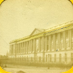 France Paris Louvre facade anciennne Stereo Transparente 1860