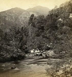Scotland Pass of the Trossachs Old GW Wilson Stereoview Photo 1865