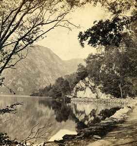Scotland Loch Katrine the East End Old GW Wilson Stereoview Photo 1865