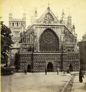 Devon Exeter Cathedral West Front Old GW Wilson Stereoview Photo 1865