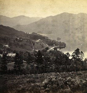 Scotland Loch Lomond View From above Tarbet Old GW Wilson Stereoview Photo 1865