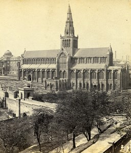 Scotland Glasgow Cathedral from South East Old GW Wilson Stereoview Photo 1865