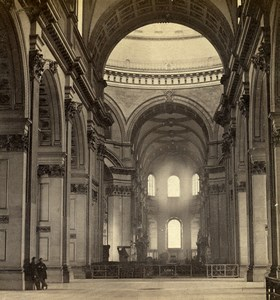 London St Paul's Cathedral interior Old GW Wilson Stereoview Photo 1865