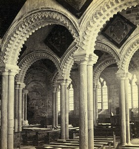 United Kingdom Durham Cathedral Lady Chapel Old GW Wilson Stereoview Photo 1865
