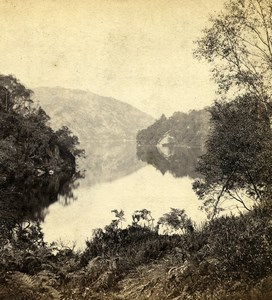 United Kingdom Scotland Loch Katrine Old GW Wilson Stereoview Photo 1865