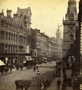 Scotland Glasgow Trongate Busy Street Scene Old GW Wilson Stereoview Photo 1865