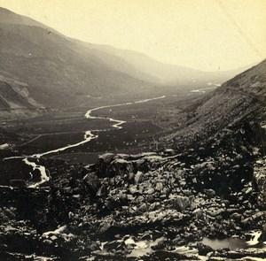 Wales Capel Curig Nant Ffrancon Old Bedford? Stereoview Photo 1865