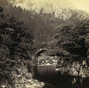 Pays de Galles Beddgelert Pont Aberglaslyn anciennne Stereo Bedford? 1865