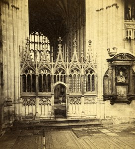 Kent Canterbury Cathedral Interior Old Frank M. Good Stereoview Photo 1865