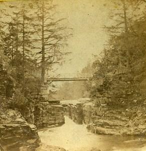 United Kingdom Scotland Falls of Quoich Old John Ewan Stereoview Photo 1865