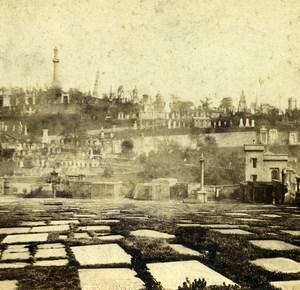 United Kingdom Scotland Glasgow Necropolis Old Macfarlane Stereoview Photo 1865
