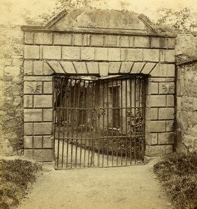 Scotland Edinburgh Prison Old Iron Gate Old Gordon Stereoview Photo 1865