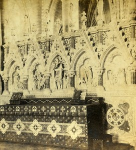 Hereford Cathedral Altar & Reredos Old Ladmore Stereoview Photo 1865