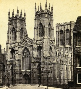 United Kingdom Yorkshire York Minster Old George Willis  Stereoview Photo 1870