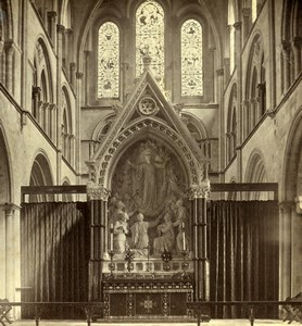 United Kingdom Chichester ? Cathedral Interior Old Stereoview Russell 1865