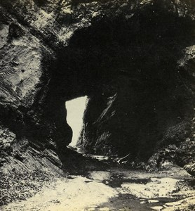 United Kingdom Devonshire Watermouth Caves Old Stereoview Archibald Coke 1865