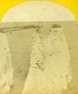 Kent Thanet Margate No Man's Land Old Poulton Stereoview Photo 1865