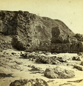 United Kingdom Cornwall Bude Haven Seaside Old H. Thorn Stereoview Photo 1865