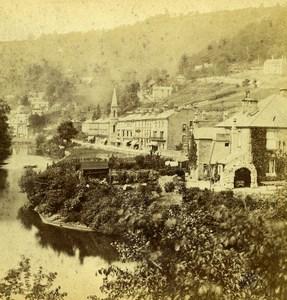 United Kingdom Derbyshire Matlock General View Old Stereoview Photo 1865