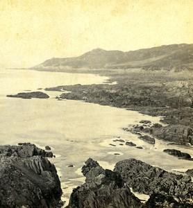 Royaume Uni Devon Woolacombe Sands Mortehoe Bords de Mer anciennne Photo Stereo 1865