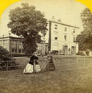 United Kingdom British Countryside Manor House Old FM Good Stereoview Photo 1865
