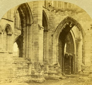 Scotland Moray Elgin Cathedral Old Francis Frith Stereoview Photo 1860