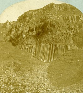 Northern Ireland County Antrim Giant's Causeway Old Stereoview Photo 1860