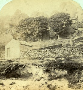 United Kingdom Derbyshire Buxton Rock Hall Old Manchester Stereoview Photo 1865