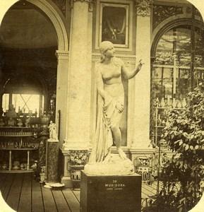 London Sydenham Crystal Palace Musidora Legrew Old Stereoview Photo 1860